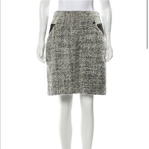 CHANEL Skirts - Chanel A 10 Tweed Bouclé Skirt Size 10 Large